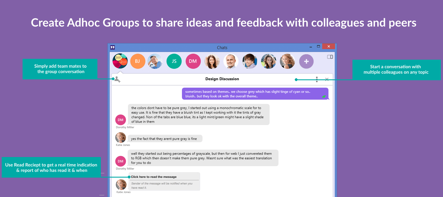 Office Chat Adhoc Groups