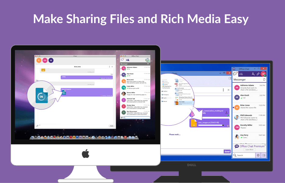 Office Chat File Sharing