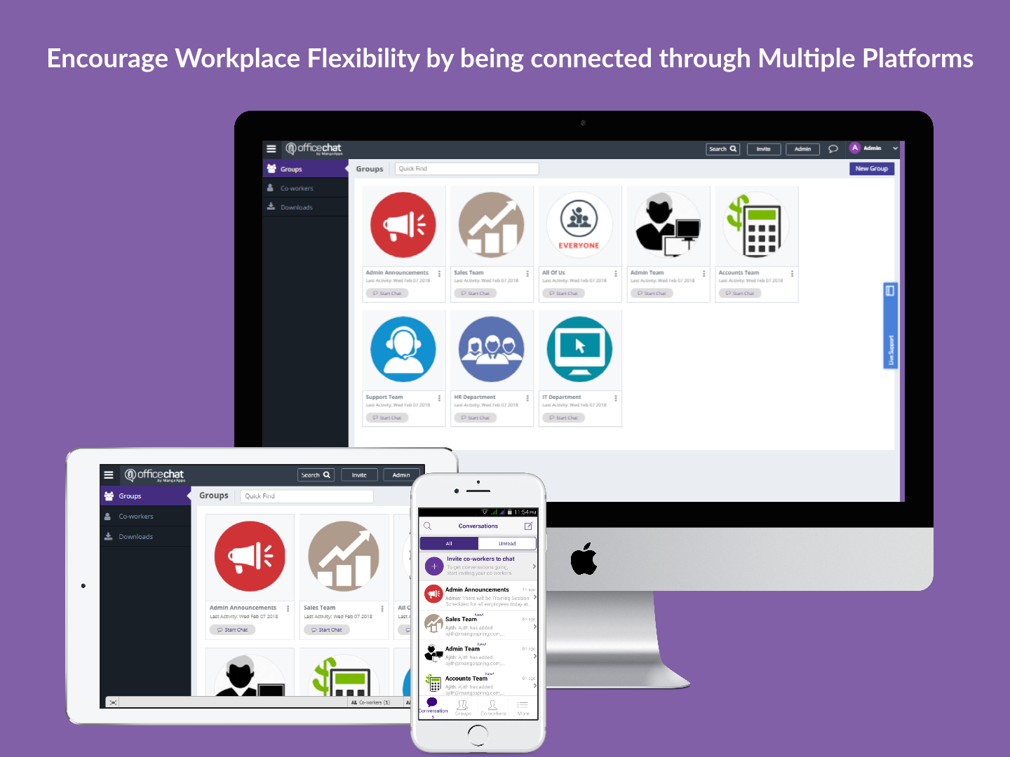 Office Chat Multiple Platforms