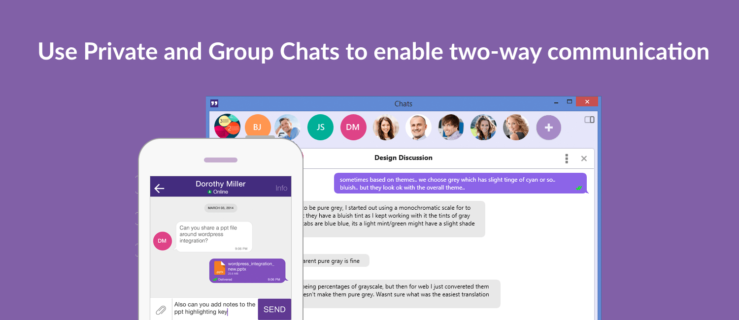 Office Chat Private and group Chats