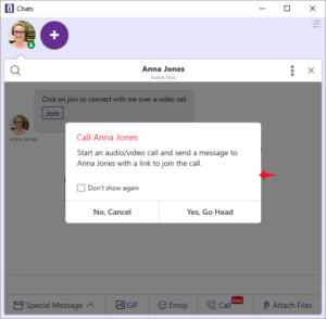 Introducing Office Chat 1-to-1 Video, Voice Call and Screen Sharing Feature
