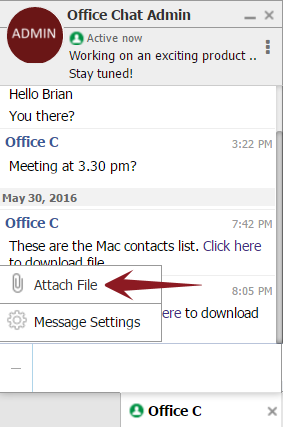 File sending - OC Web