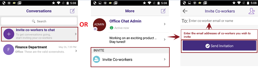 Invite Android Main