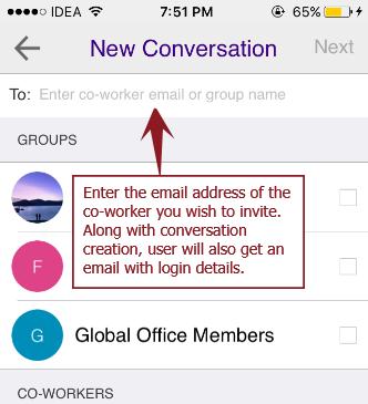 New conv invite - iOS