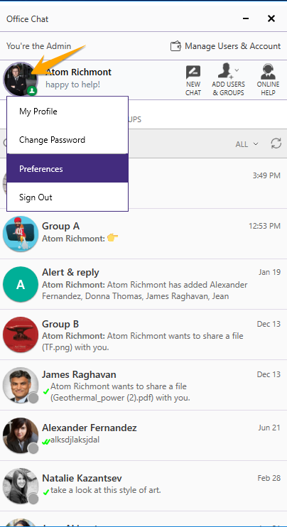 How do I enable and manage my message & sound notifications?