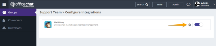 Mail Chimp Configure Integrations 2