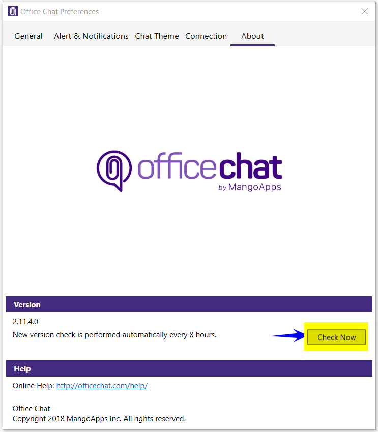 Office Chat PC, MAC and Mobile Apps – How All Apps Upgrade?