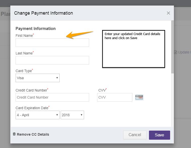billing credit card
